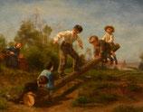 "#21-C.E. Frere, signed oil on canvas, 12.5"" x 16"""