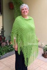Chal (shawl o tapado) de primavera tejido en dos agujas en punto peruano!