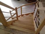 Escalier fabriqué par FMA menuiserie à lezay