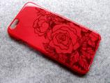 スマホケース・ピンクの薔薇