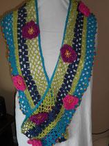 Vintage design gehaakte sjaal.