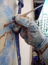Pintores Barcelona. Restauración al silicato fachada  estuco a  la cal al silicato. Finca catalogada. Ciutat Vella, L´Eixample