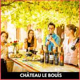 Dégustation au Château le Bouïs des vins de la région, création d'un vin personnalisé, visite avec RC VTC NARBONNE ROGER CORBIERE Tansport vtc moins cher comme UBER