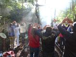 """Vom 1.-3. Mai 2015 fand die energetische Eröffnung in San Lorenzo statt, mit dem Retreat """"Reencuentros"""" (Sich Wiederfinden), es war wunderbar..."""