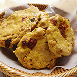 全粒粉と煎り大豆のクッキー