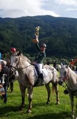 Ingeborg Reiter Steir. Landesmeisterin 2019  mit  Pferd Maxl