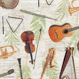 servilletas para decoupage con motivos musicales