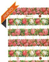 Cromos de cenefas y marcos de flores