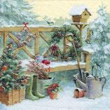 Servilletas para decoupage con paisajes navideños