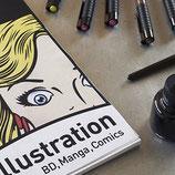 Papeles para rotulador y plumilla, ideales para ilustración, manga, cómic...