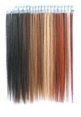 髪の毛、人毛、髪束のエクステ