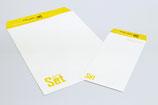 【企業封筒×建築業】弊社でご提案したロゴマークをメインに白を基調にデザインしたオリジナル封筒各種。シンプルながらインパクトがあります。(長3・角2)