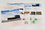 【パンフレット×ペット葬儀】施設の案内や料金などをご紹介。写真の多めに使用し、写真を多く使用し、柔らかいイメージにデザインしました。〔A3(A4仕上げ/二つ折り)〕