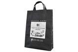 【不織布バッグ×建築業】新店オープンに伴いノベルティとして制作。使いやすい大きさのトートバッグにすることで様々なシーンで活用していただけ、広告効果としても期待が持てます。( 名入れサイズ:H256×W190mm)