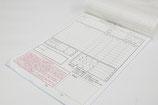 【複写式伝票×工務店】2枚目をお客様控えとして使用するため、強調したい箇所を別色で印刷。ミシン目加工を施し、切り離ししやすいようにしました。 〔A4・ノーカボン(青発色)〕