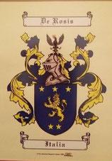 Stemma della famiglia dei baroni De Rosis(riproduzione)