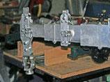 les 3 profilés en aluminium téléscopiques.