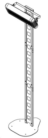 """Mobilständer """"Design"""" für Terrassenheizung"""