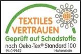 Unsere Deckensegel erfüllen den OEKO-TEX Standard 100.