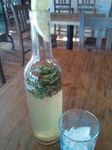04.03 モヒート好きにぴったりの良い飲み物をみつけました、ミントぎっしりのレモネード。常飲したいです。さわやか!(ノンアルコール)
