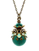 Saphira ° Little Deep Sea ° Filigree Glow Necklace * Designed and Manufactured by Elfgard® Germany