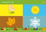 plaats fruit & groente bij het juiste seizoen