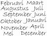hoeveel dagen heeft elke maand ?