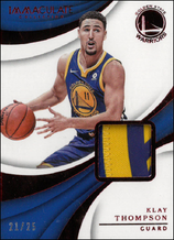 KLAY THOMPSON / Immaculate Patch - No. M-KTH  (#d 21/25)