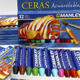 Ceras normales, acuarelables,...para pintar o para manualidades de MANLEY ideales para niños