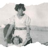 Con su sobrina, Pilita