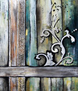 Barock für O. Enns     60 x 70 cm  Acrylcollage auf Leinwand  Galeriekeilrahmen  2011