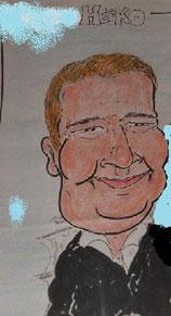 Portrait eines Mannes als Comic