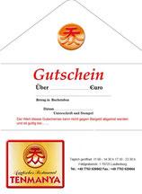 Geschenk-Gutschein Restaurant Tenmanya Laufenburg
