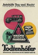 Werbepostkarte von 1933