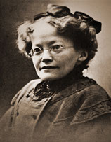 Anna Haller, erste Absolventin und 1899 erste Lehrerin an der Bieler Kunstgewerbeschule
