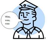 Der bellende Polizist