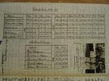 Gehaltsliste und Lehrerfoto 1927