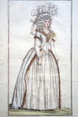 Journal des Luxus und der Moden, c. 1788, Rokoko-Kleid mit Fichu, Foto: Nina Möller