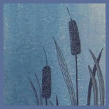 Tusche auf Linol - Klappkarte von Kathrin Förster, Ravensburg