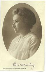 Postkarte: Rosa Luxemburg (1871-1919) 1919, Verlag der KPD. StA Göttingen