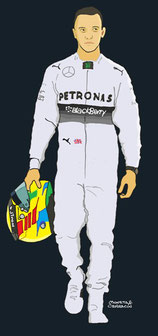 Lewis Hamilton by Muneta & Cerracín