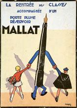 Pierre Péron, Mallat. La rentrée des classes, années 1930, affiche, collection particulière © DR.