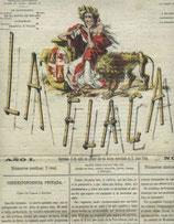 Portada de la Revista satírica de tendencia republicana, La Flaca.