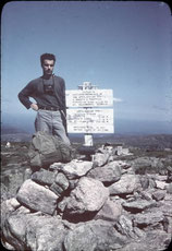 Earl Shaffer's historic photo at the summit of Mount Katahdin, Maine, 1948