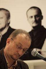 Der Autor beim Serbienschwerpunkt auf der Leipziger Buchmesse 2011, den er selbst mitorganisierte