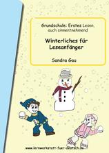 Lesen im winter, Leseanfänger, lesen lernen, Winter, Winterliche Wörter, in Silben lesen