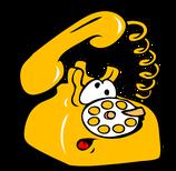 желтый телефон