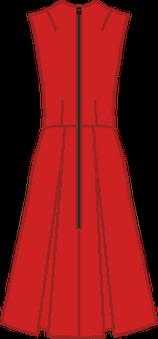 Robe Vintage, jupe plis creux