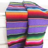 Mexikanische sarape, Tischdecke, Bettüberwurf, Yogadecke, handgewebte Decke (lila)
