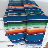 Mexikanische sarape, Tischdecke, Bettüberwurf, Yogadecke, handgewebte Decke (königsblau)
